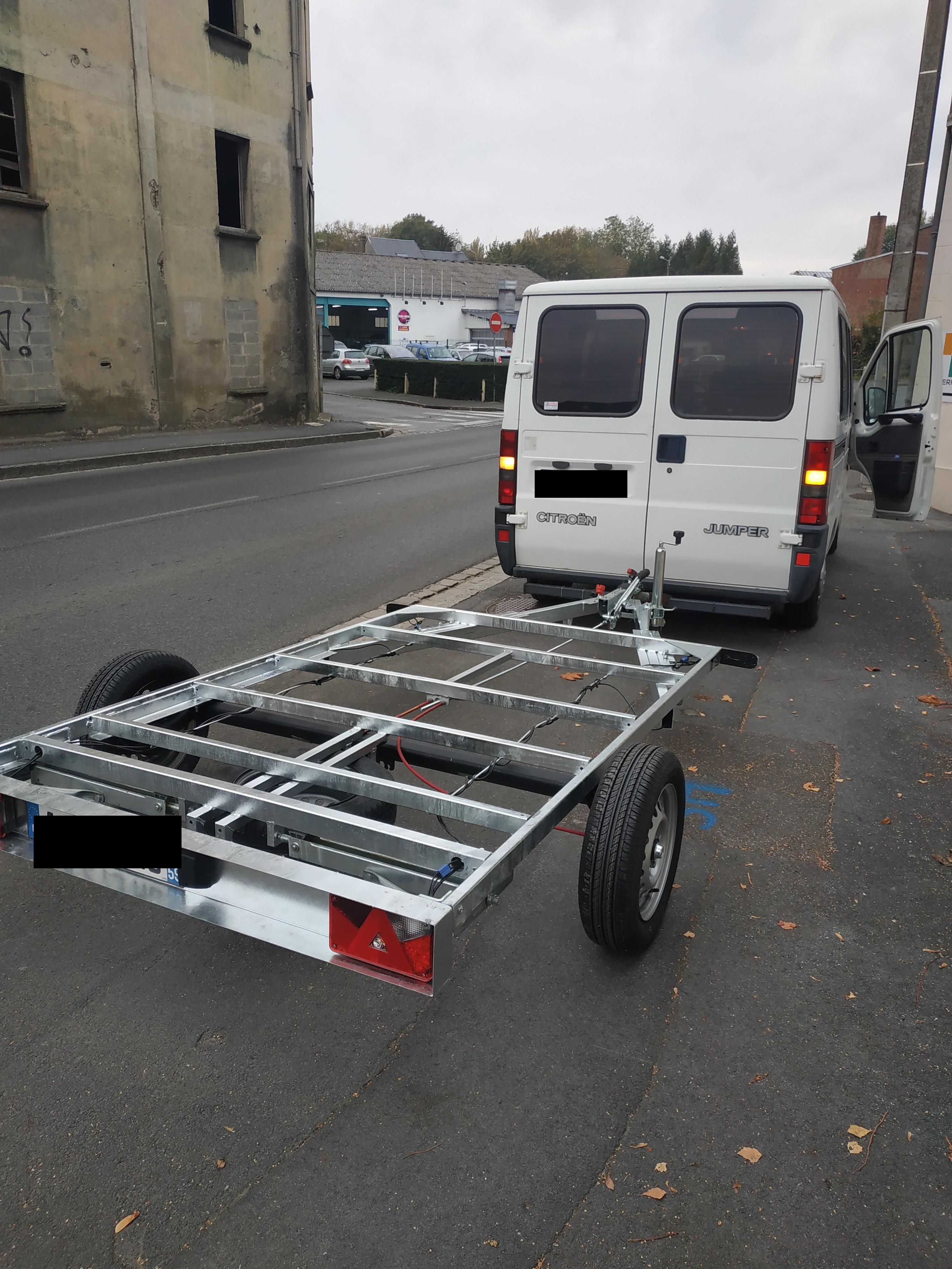 Remorque chassis nu 250×150 NEUVE